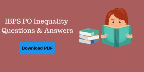 👨✈️सरकारी नौकरी की तैयारी - IBPS PO Inequality Questions & Answers Download PDF - ShareChat