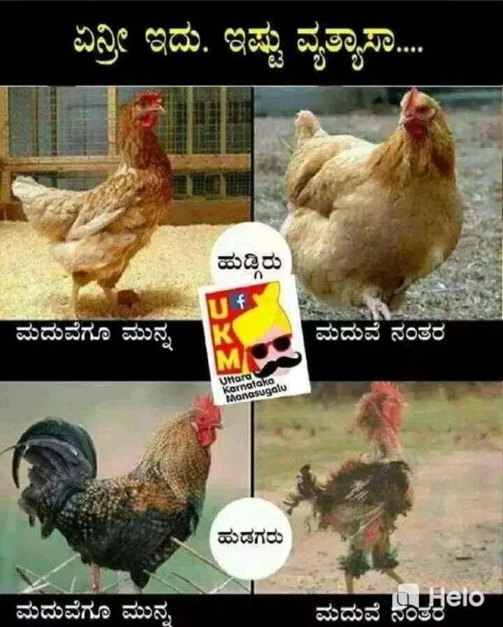 👩❤️👨ಗಂಡ-ಹೆಂಡತಿ ಜೋಕ್ಸ್ - ಏನ್ರಿ ಇದು . ಇಷ್ಟು ವ್ಯತ್ಯಾಸ . . . . ಹುಡ್ಡಿರು ಮದುವೆಗೂ ಮುನ್ನ ಮದುವೆ ನಂತರ Uttara Karnataka Manasugalu ಹುಡಗರು ಮದುವೆಗೂ ಮುನ್ನ ಮದುವೆ ನielo - ShareChat