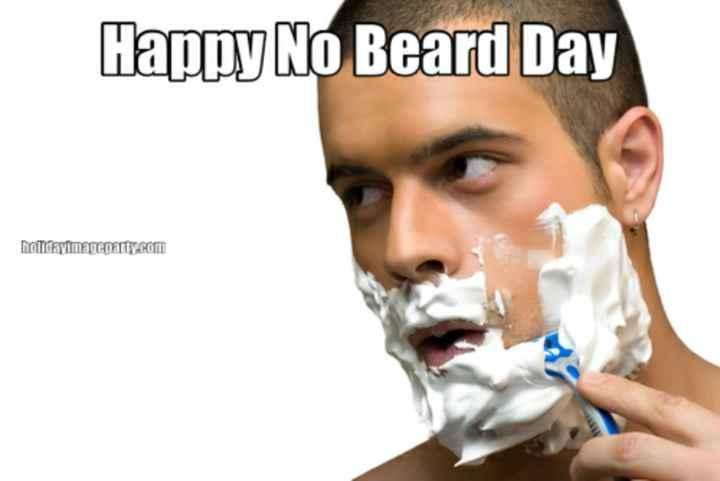 👳♀️ नो बियर्ड डे - Hapoy No Beard Day maildayimageparty . com - ShareChat