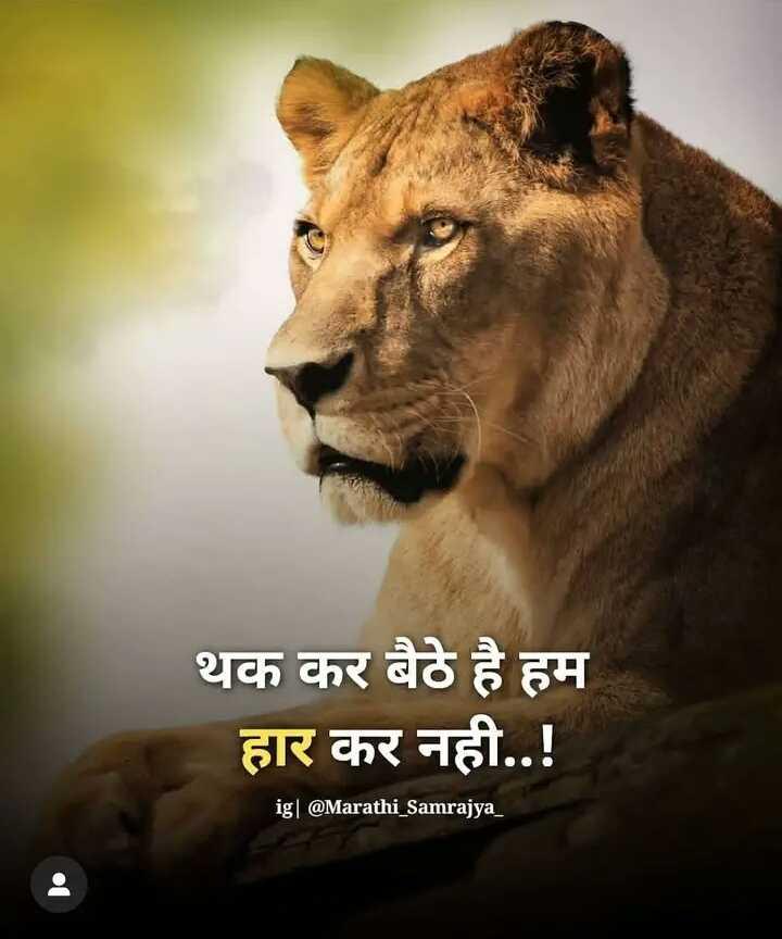 💇♂️ मेंस हेयर स्टाइल - थक कर बैठे है हम हार कर नही . . ! ig | @ Marathi _ Samrajya _ - ShareChat