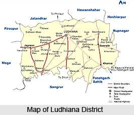 👳‍♂️ਮਾਲਵੇ ਦੇ ਲੋਕ - Jalandhar LUOWANA 19 e S Sangrur Map of Ludhiana District - ShareChat