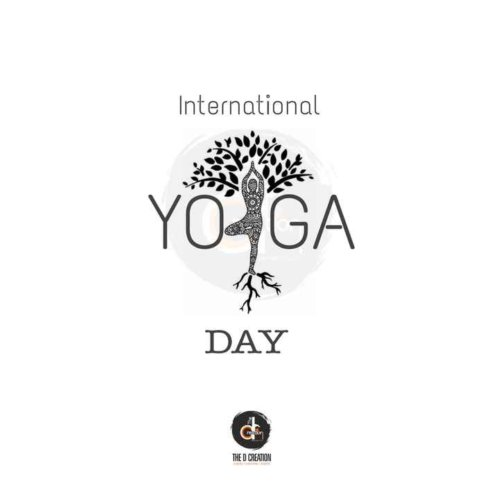 🧘‍♂️ આંતરરાષ્ટ્રીય યોગ દિવસ - International YOGA SOBRUSORS DAY rection THE D CREATION DESIGNING - ADVERTISING - BRANDING - ShareChat