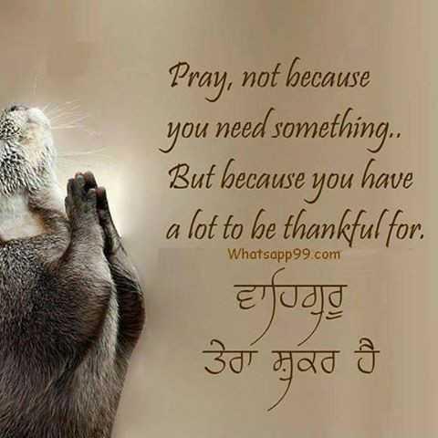 👮♂️ પોલીસને મળી નવી ઓળખ - Pray , not because you need something . . But because you have a lot to be thankful for ਵਾਹਿਗੁਰੂ ਤੇਰਾ ਸ਼ੁਕਰ ਹੈ Whatsapp99 . com - ShareChat