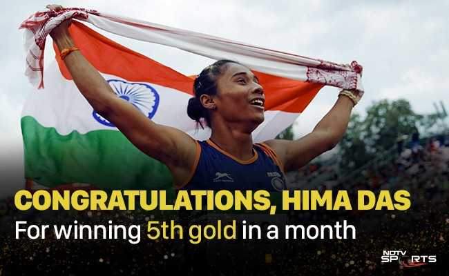 🏃♀️ஹிமா தாஸ் - CONGRATULATIONS , HIMA DAS For winning 5th gold in a month SP RTS - ShareChat