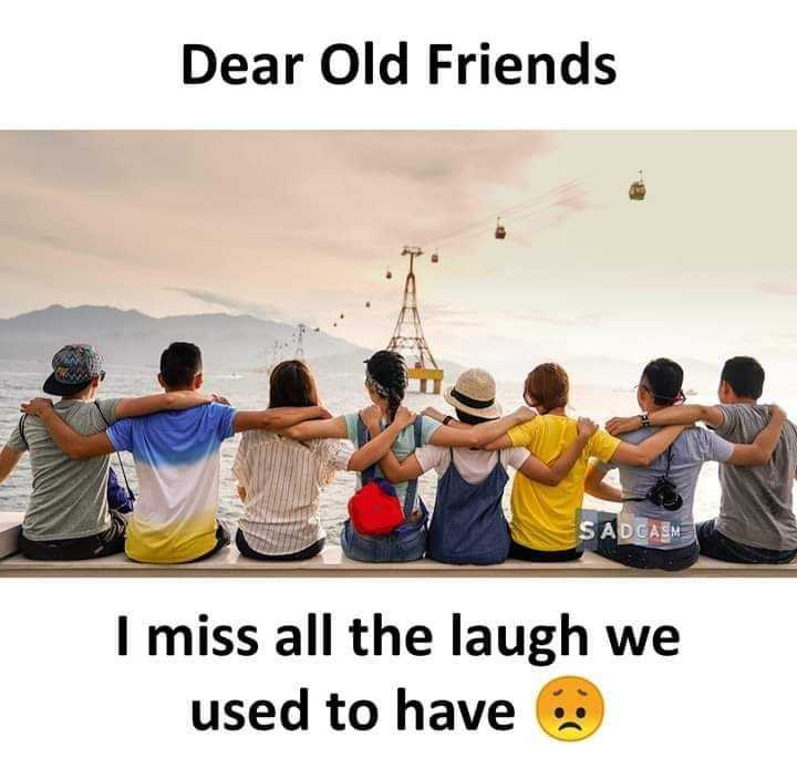 👯♀️ స్నేహితుల అడ్డా - Dear Old Friends SADCASM I miss all the laugh we used to have - ShareChat
