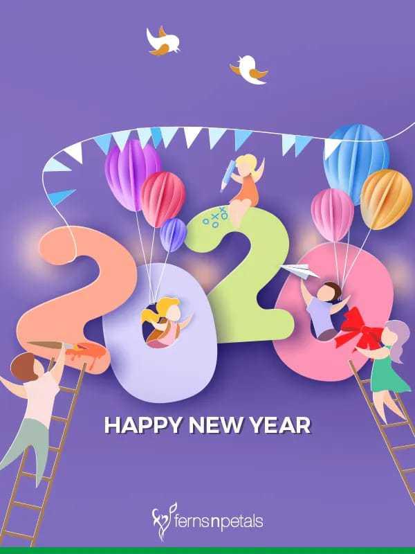 🙋♀️ എൻ്റെ സ്റ്റാറ്റസുകൾ - HAPPY NEW YEAR Wfernsnpetals - ShareChat