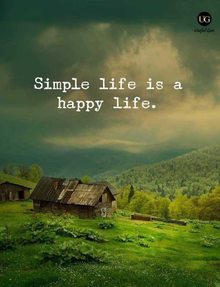 🙋♀️ എൻ്റെ സ്റ്റാറ്റസുകൾ - UG Usefel Gen Simple life is a happy life . - ShareChat