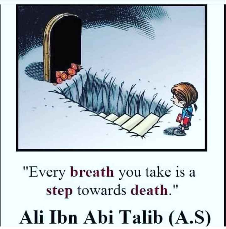 🙋‍♀️ എൻ്റെ സ്റ്റാറ്റസുകൾ - Every breath you take is a step towards death . Ali Ibn Abi Talib ( A . S ) - ShareChat