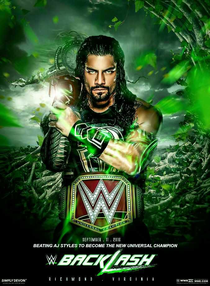 🤼♀️ WWE - UNIVERSAL AMPION IN SEPTEMBER . 11 . 2016 BEATING AJ STYLES TO BECOME THE NEW UNIVERSAL CHAMPION W BACK ASH SIMPLY DEVON RICHMOND VIRGINIA WWE HD WWE . COM - ShareChat