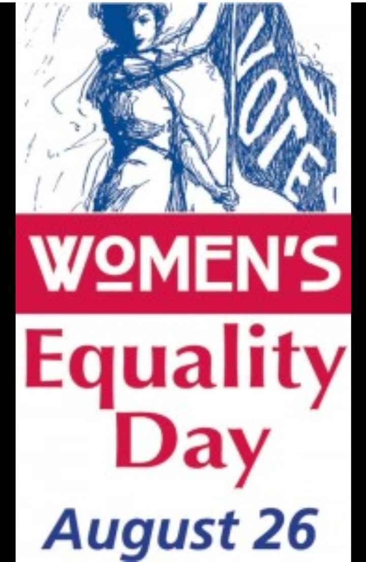 👱♀️Woman Equality Day👵 - WOMEN ' S Equality Day August 26 - ShareChat