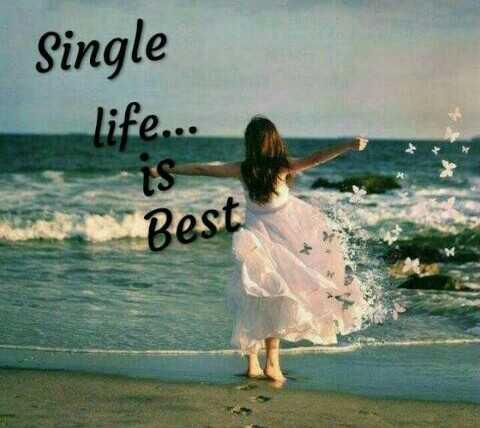 💁♂'నేను సింగల్' స్టేటస్ - Single life . . . is Best - ShareChat
