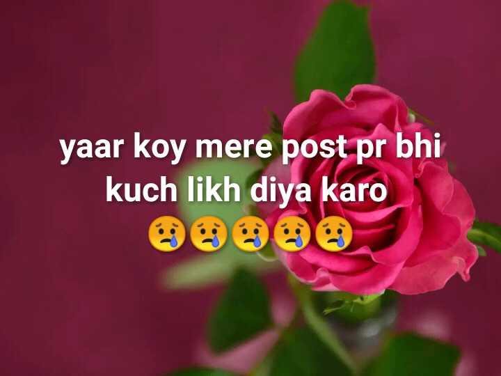 👩🎨WhatsApp प्रोफाइल DP - yaar koy mere post pr bhi likh diya karo - ShareChat
