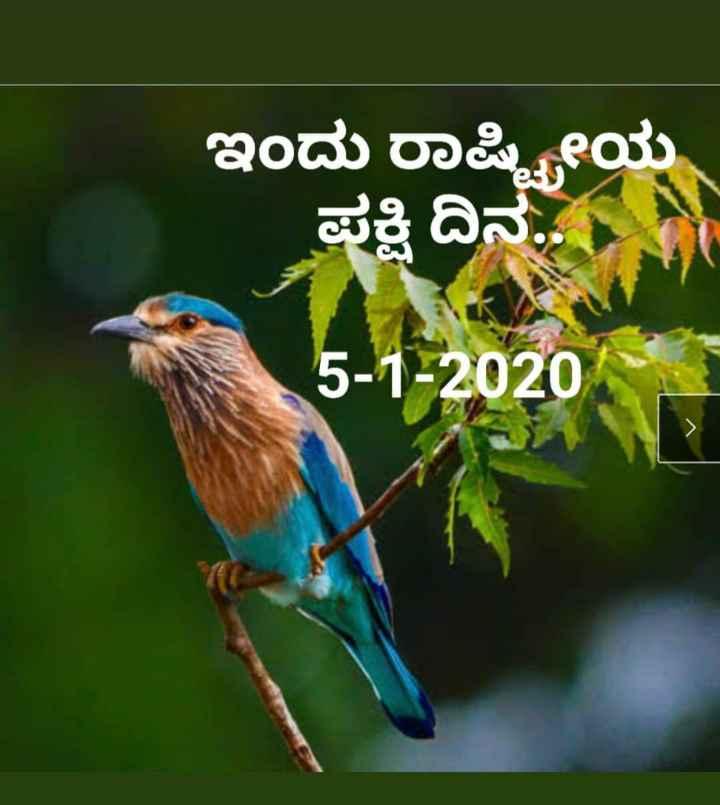 ✊ಬದಲಾಗಲಿ ನನ್ನ ಭಾರತ - ಇಂದು ರಾಷ್ಟ್ರೀಯ ಪಕ್ಷಿ ದಿನ 5 - 1 - 2020 - ShareChat