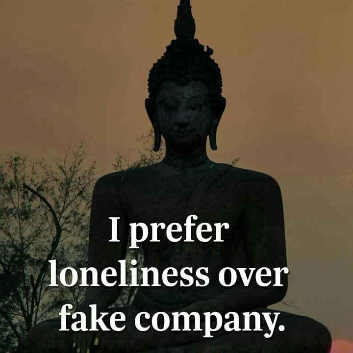 ✋నేను .... - I prefer loneliness over fake company . - ShareChat