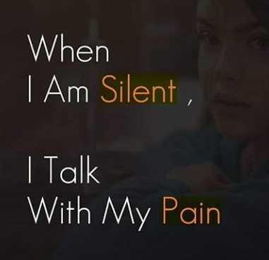 ✋నేను .... - When | Am Silent , I Talk With My Pain - ShareChat