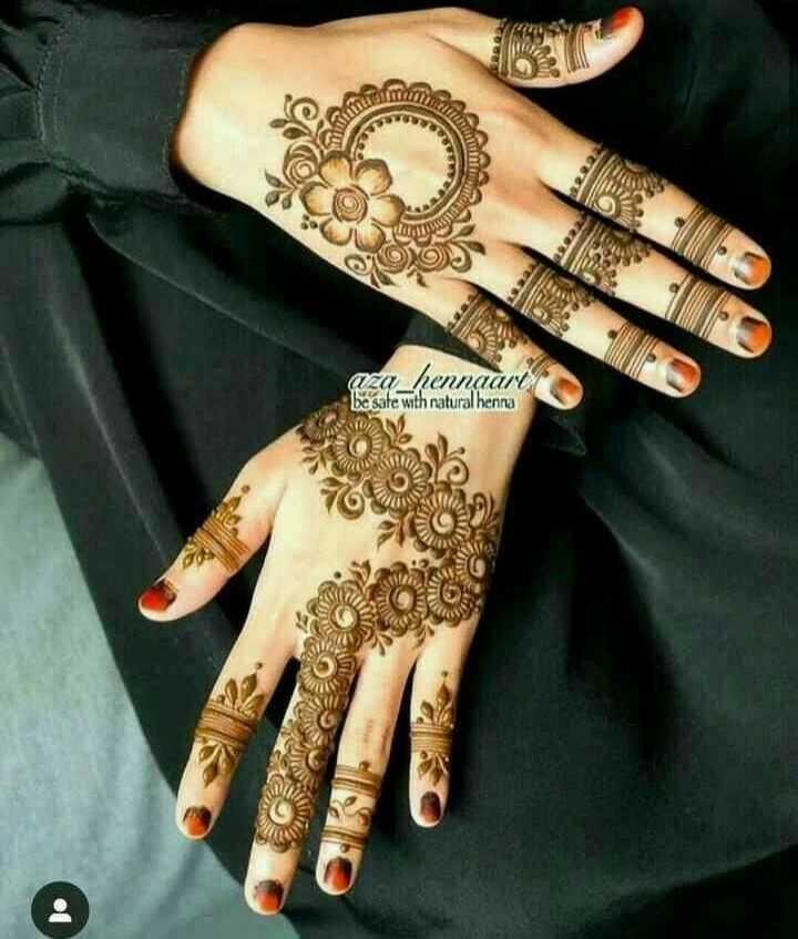 ✋ മൈലാഞ്ചി ഡിസൈന് - aza _ hennaart be ' safe with natural henna - ShareChat