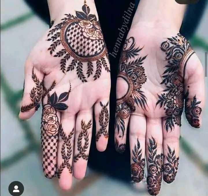 ✋ മൈലാഞ്ചി ഡിസൈന് - hennabydilna - ShareChat