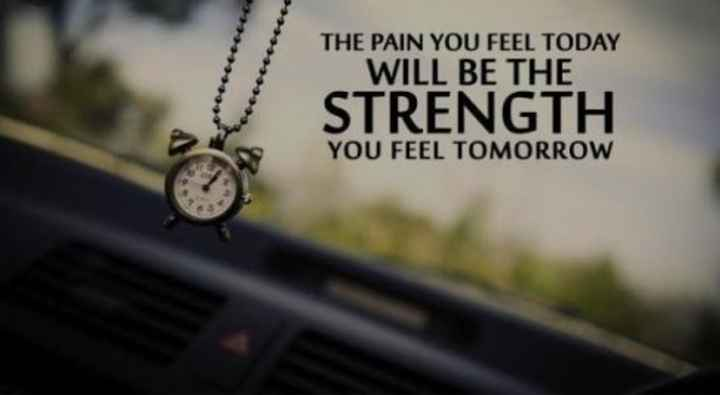 ✍🏽 मेरी लिखावट - THE PAIN YOU FEEL TODAY WILL BE THE STRENGTH YOU FEEL TOMORROW - ShareChat