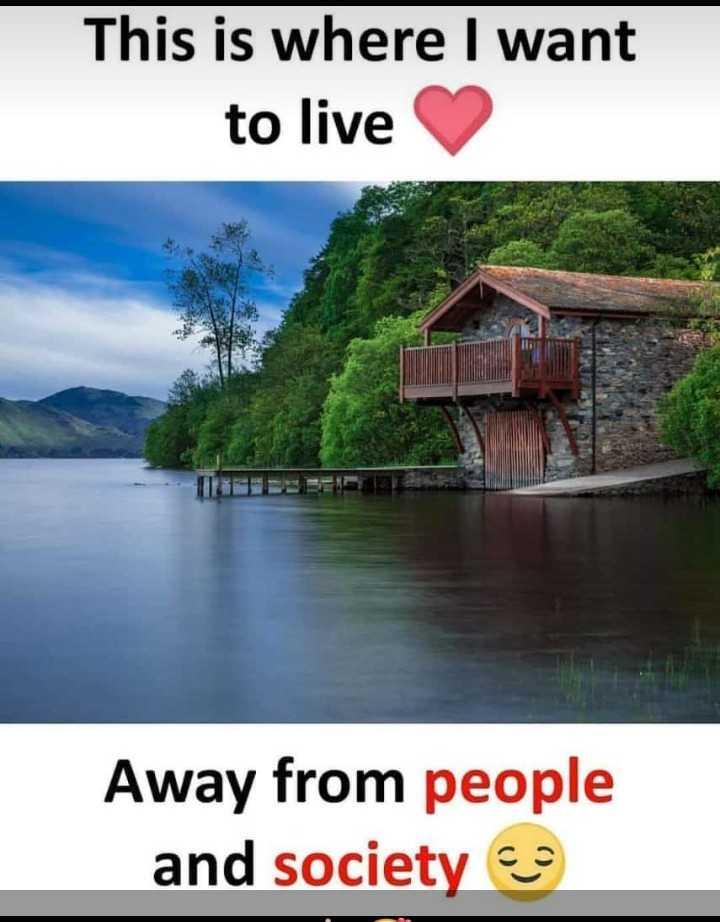 ✍ டிஜிட்டல் கலை - This is where I want to live Away from people and society - ShareChat