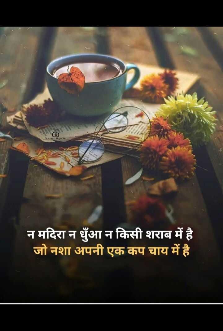 ✍️अल्फ़ाज़✍️ - न मदिरा न धुंआ न किसी शराब में है जो नशा अपनी एक कप चाय में है । - ShareChat