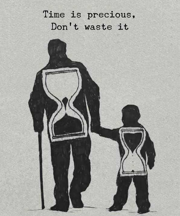 ✍️ જીવન કોટ્સ - Time is precious , Don ' t waste it - ShareChat