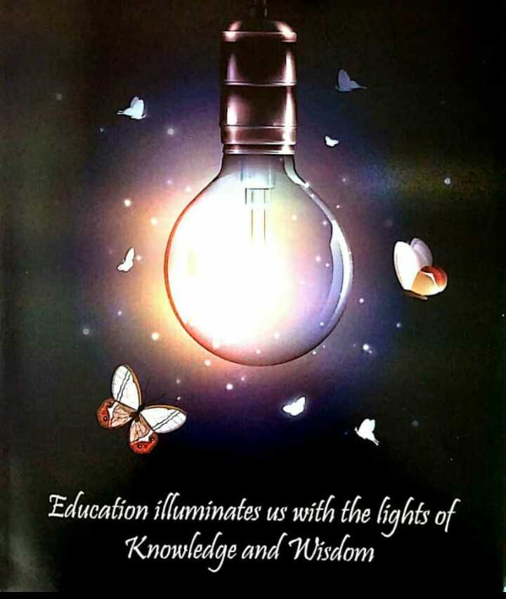✍️కోట్స్ - Education illuminates us with the lights of Knowledge and Wisdom - ShareChat