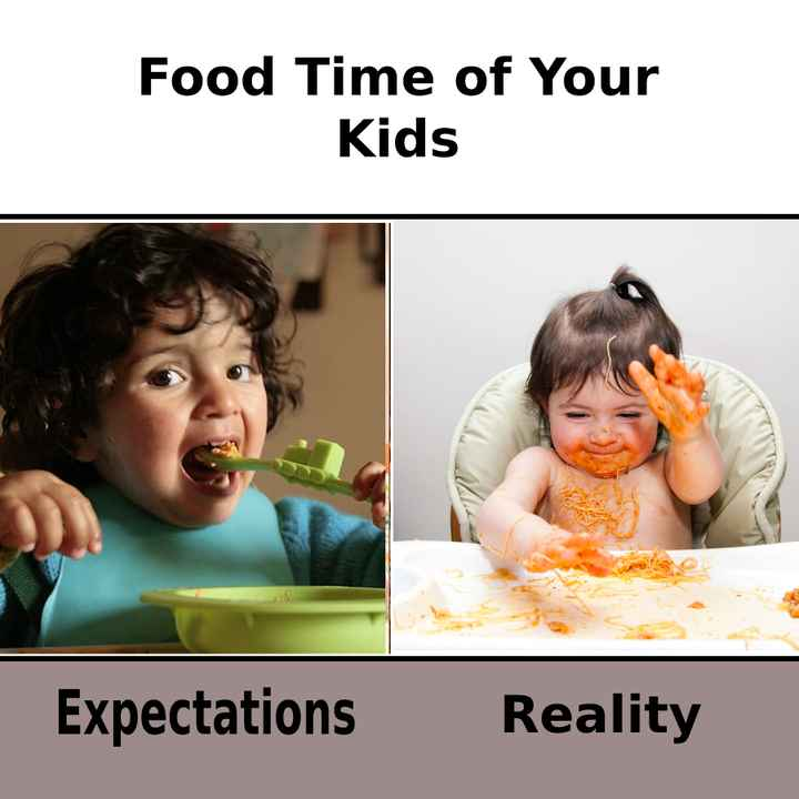 ✍️కోట్స్ - Food Time of Your Kids Expectations Reality - ShareChat