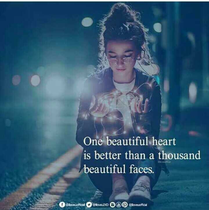 ✍️కోట్స్ - One beautiful heart is better than a thousand beautiful faces . Slovedolfort Rout . 2 O Cloveofficia - ShareChat