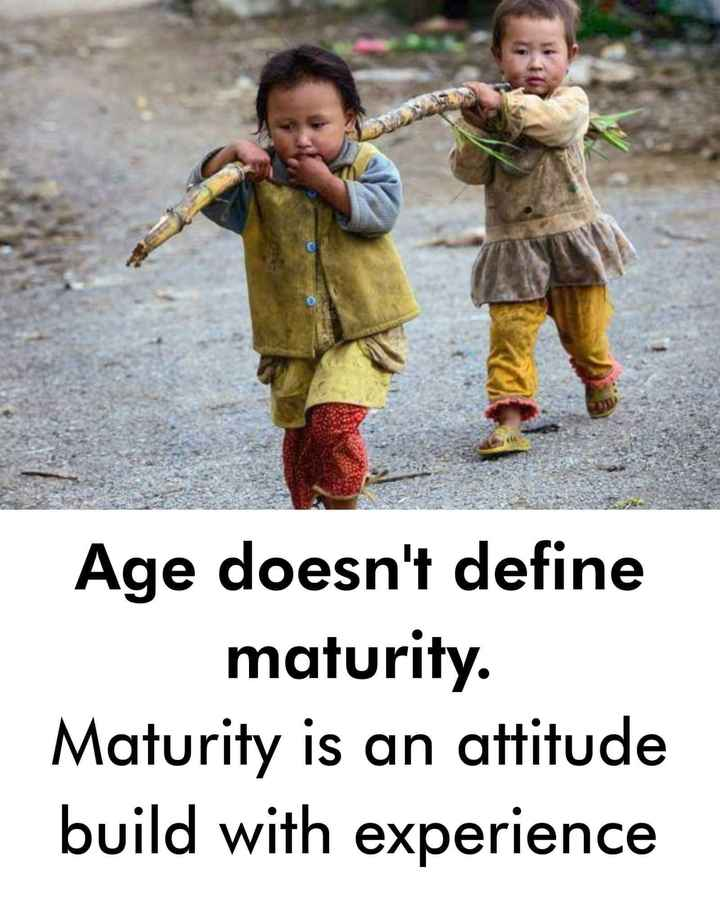 ✍️ Motivatinal Quotes - Age doesn ' t define maturity . Maturity is an attitude build with experience - ShareChat