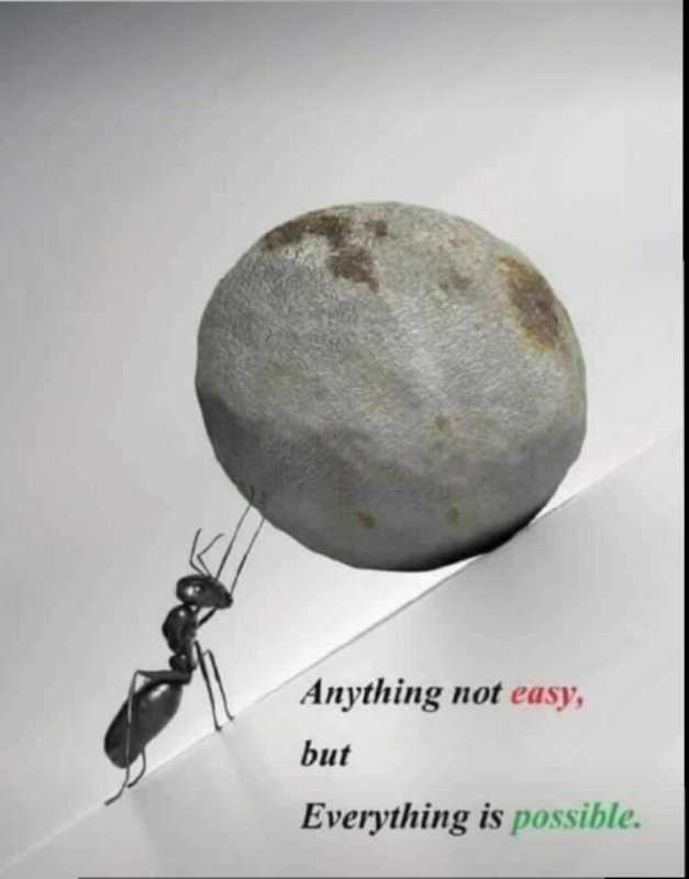 ✍️  Motivatinal Quotes - Anything not easy , but Everything is possible . - ShareChat