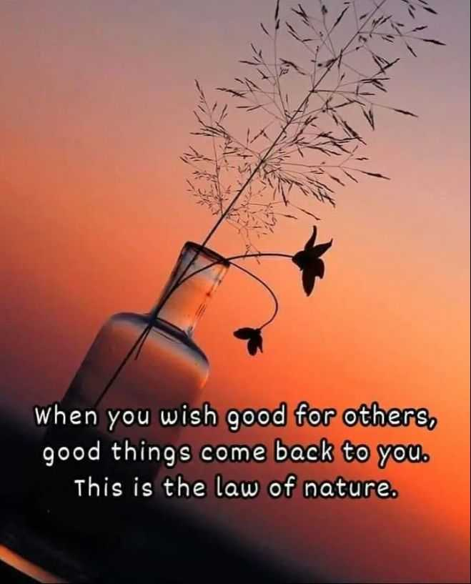 ✍️  Motivatinal Quotes - when you wish good for others , good things come back to you . This is the law of nature . - ShareChat