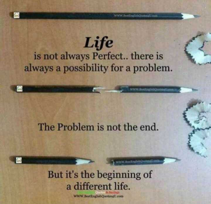 ✍️  Motivatinal Quotes - Life is not always Perfect . . there is always a possibility for a problem . The Problem is not the end . But it ' s the beginning of a different life . www RedEnglinhQuote4Uem . - ShareChat