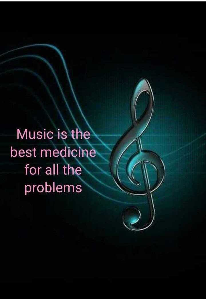 ✍️  Motivatinal Quotes - Music is the best medicine for all the problems - ShareChat