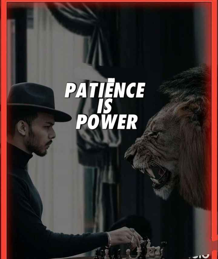 ✍️  Motivatinal Quotes - PATIENCE POWER - ShareChat