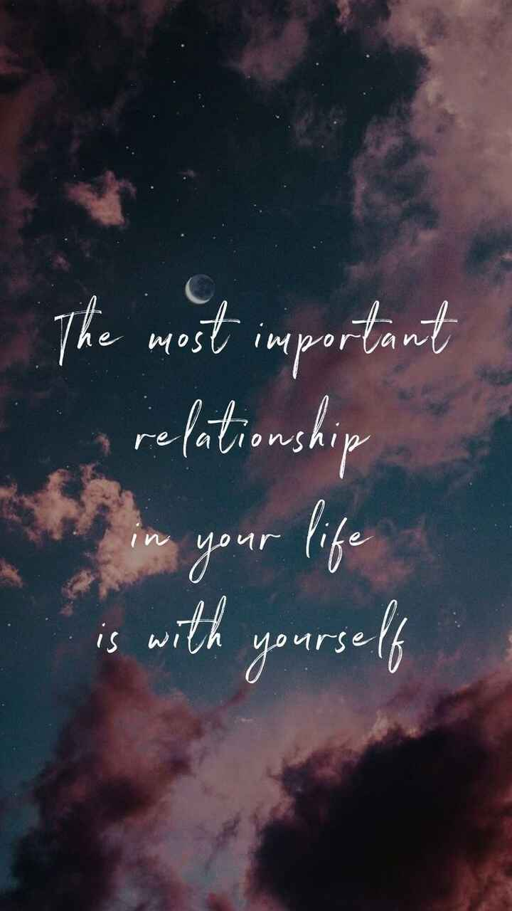 ✍life changing quotes - The most important n relationship i Y IN VOU - is with yourself - ShareChat