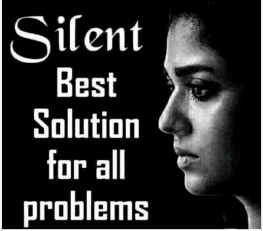 ✒ शायरी - Silent Best Solution for all problems - ShareChat