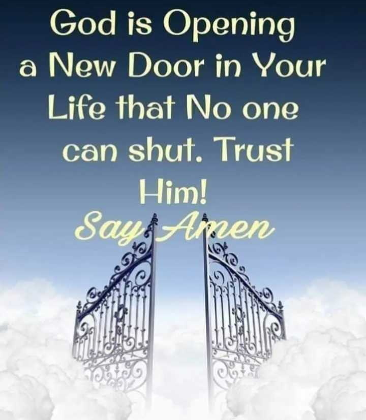 ✝జీసస్ - God is Opening a New Door in Your Life that No one can shut . Trust Him ! Say Amen - ShareChat