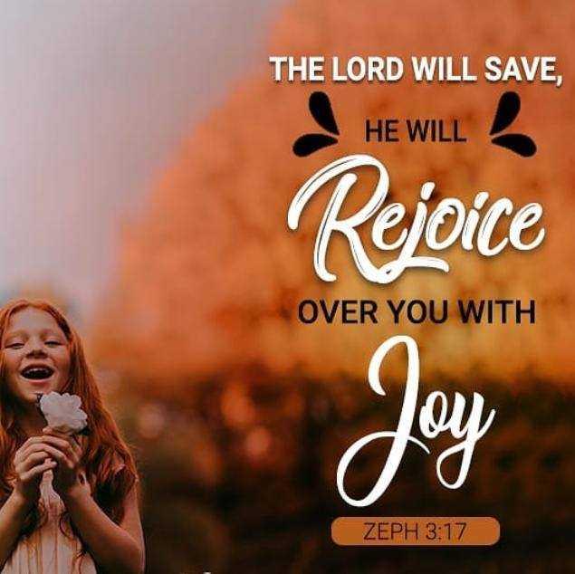 ✝జీసస్ - THE LORD WILL SAVE , HE WILL Rejoice OVER YOU WITH ZEPH 3 : 17 - ShareChat