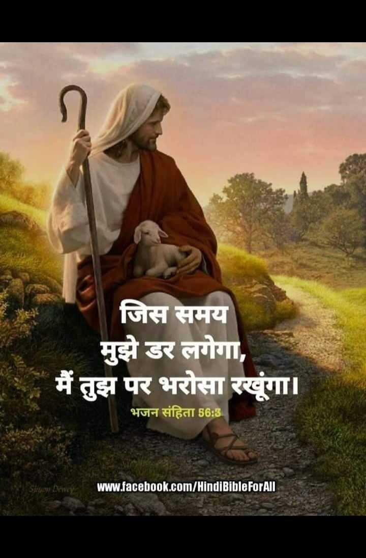 ✝️ प्रेयर ✝️ - जिस समय मुझे डर लगेगा , मैं तुझ पर भरोसा रखूगा । भजन संहिता 56 : 3 . www . facebook . com / Hindi BibleForAll - ShareChat