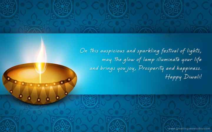 ✨💡✨happy diwali✨💡✨ - On this auspicious and sparkling festival of lights , may the glow of lamp illuminate your life and brings you joy , Prosperity and happiness . Happy Diwali ! www . greetingseveryday . com - ShareChat