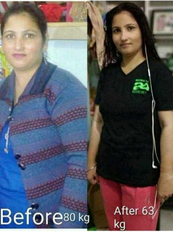 ❄️ ਧੁੰਦ ਤੋਂ ਬਚੋ -road safety ☃️ - Before80 kg After 63 kg - ShareChat