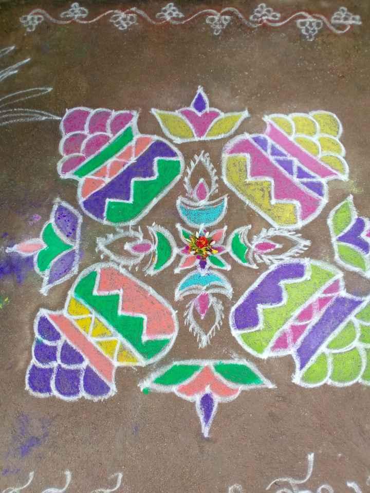 ❄️ಸಂಕ್ರಾಂತಿ ರಂಗೋಲಿ - ShareChat