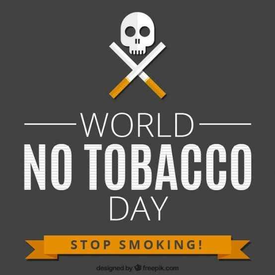 ❌ विश्व तंबाकू निषेध दिवस - - WORLD NO TOBACCO DAY STOP SMOKING ! designed by freepik . com - ShareChat