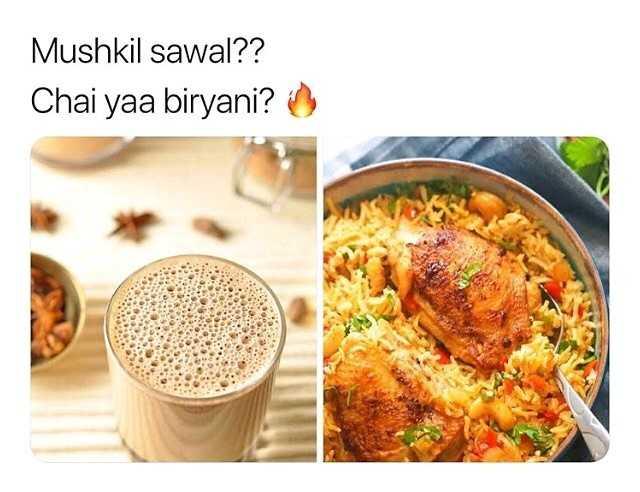 ❓ पहेलियाँ ❓ - Mushkil sawal ? ? Chai yaa biryani ? - ShareChat