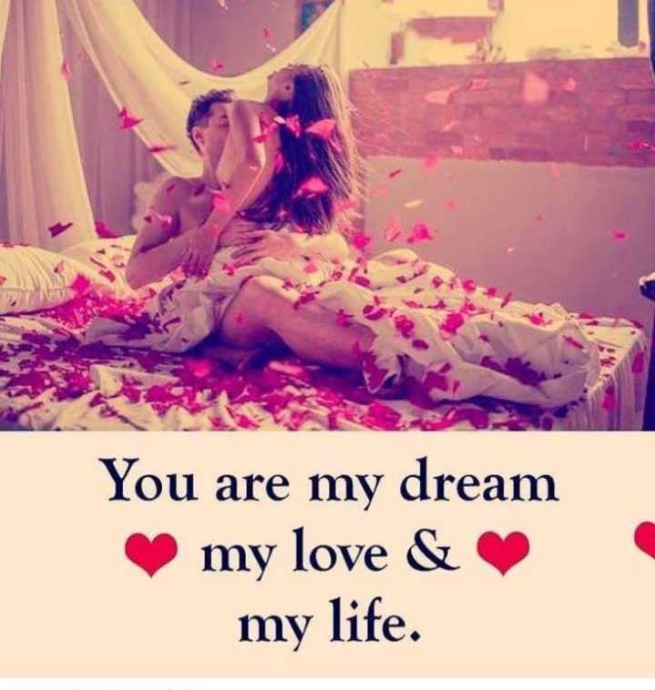 ❤️ रोमांटिक फोटो - You are my dream my love & my life . - ShareChat