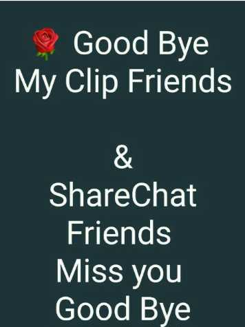 ❤ Miss you😔 - 2 Good Bye My Friends ShareChat Friends Miss you Good Bye - ShareChat