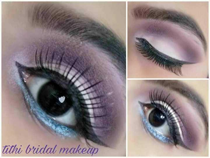 ❤Smokey Eyes❤ - tithi bridal makeup - ShareChat