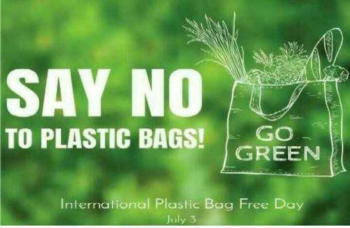🛍️आंतरराष्ट्रीय प्लास्टिक बॅग मुक्त दिवस - SAY NO TO PLASTIC BAGS ! GO GREEN International Plastic Bag Free Day - ShareChat