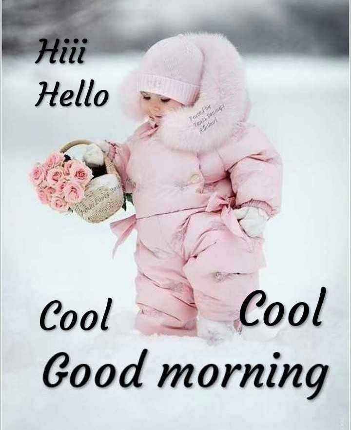 ☀️गुड मॉर्निंग☀️ - нііі Hello Posted by Tania Soma Addkar Fuit lour SOUS Cool Cool Good morning - ShareChat