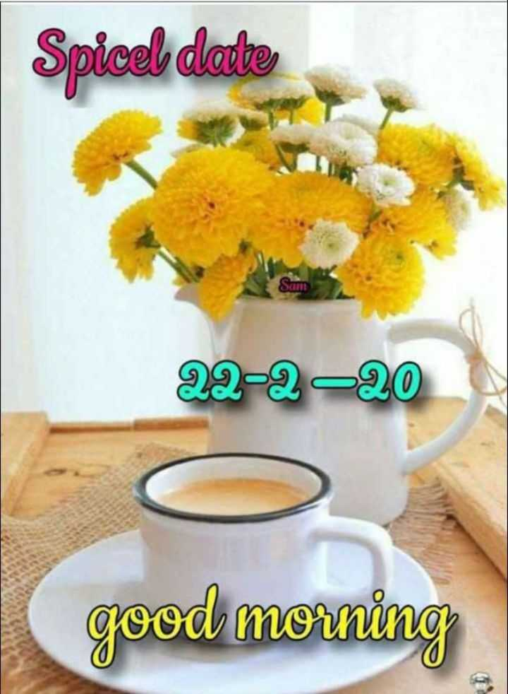 ☀️गुड मॉर्निंग☀️ - Spicel date 22 - 2 - 20 good morning - ShareChat